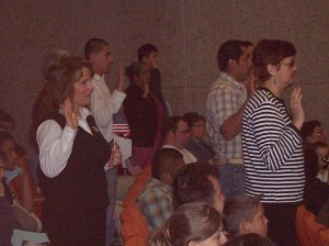That's me, holding the flag, and taking the Oath of Allegiance.