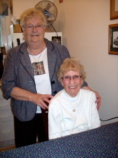 My Auntie Irene (standing) and my Mom; those are some great ladies you're looking at!