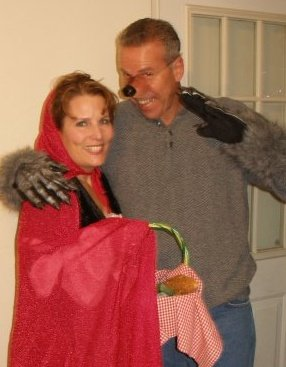 ..me & the Hubbs a few years back; We had a lot of fun with this costume!!