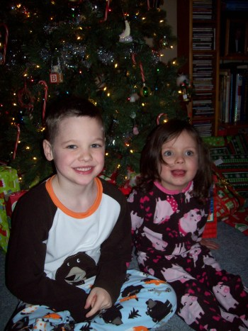 joyous grand-children, Christmas 2012;  an emjayandthem photo