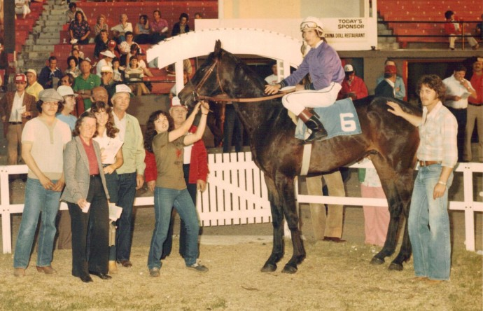 In the Winner's circle with Mom & Dad, 1982.