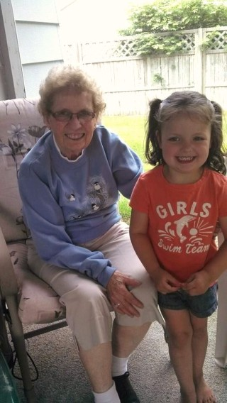 Mom and her only great grand-Daughter, MJ