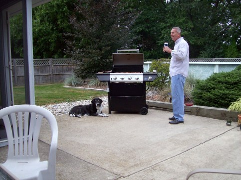 Frankie's last grill night with us .. just last Saturday.