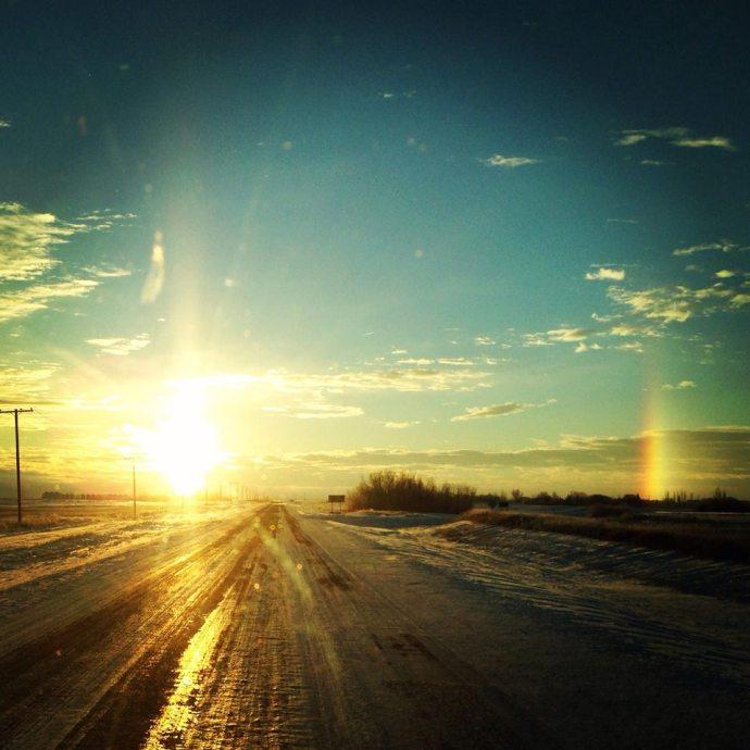 a Saskatchewan sun dog