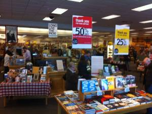 Schuler books, half off. Not going.