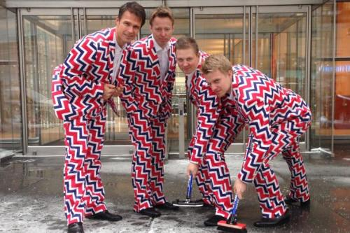 Curling is my sentimental favorite, although we were never quite as colorful as the Norwegian Curling Team is!! google.images