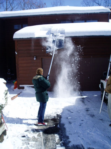This isn't me or my house. This is Shirl in St. Paul having a grand old time with her roof rake.  Photo credit http://www.google.com/url?sa=i&rct=j&q=&esrc=s&source=images&cd=&cad=rja&docid=2dwZKqd1LL5KPM&tbnid=G5oG2zcv2Lbz2M:&ved=0CAQQjB0&url=http%3A%2F%2Fwww.minnsnowta.com%2Fin_action1.html&ei=OM_0Uu_fKtLPqAHj84GIBQ&bvm=bv.60799247,d.aWc&psig=AFQjCNGADYanIxhEacdG_7yTyNlzMPLidg&ust=1391861937053946