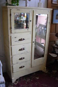 This looks a lot like our old dresser, except ours was yellow.  2 drawers!