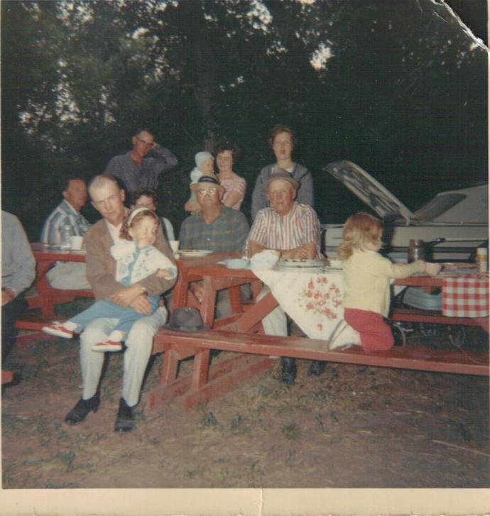 That's me on Dad's lap at a family picnic.  An Emjayandthem (C) photo