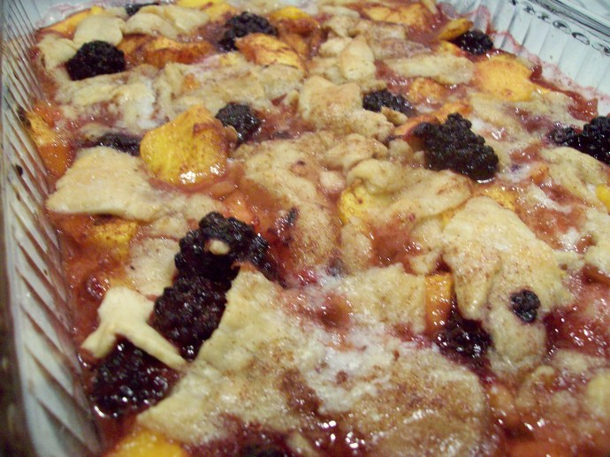 Peach Blackberry Cobbler ... an Emjayandthem (C) photo