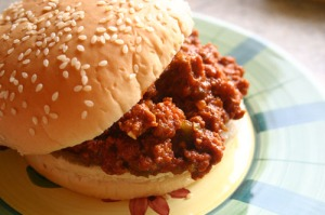 Stock photo: There's no evidence we ever had any Sloppy Joe's in our office!