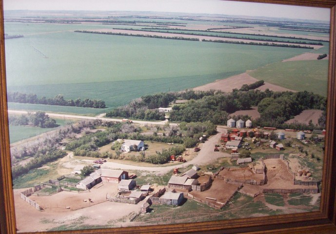 an Aerial view of the family farm .. an Emjayandthem(C) photo