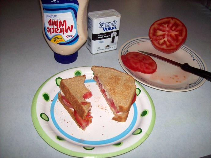 Toasted Tomato Sandwich  ~ ahh, Summer!