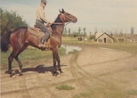 Dad riding