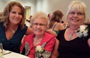 Mom me and sissy - wedding 2015