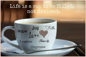 life is a cup